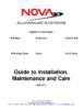 Nova Guidance for Installation